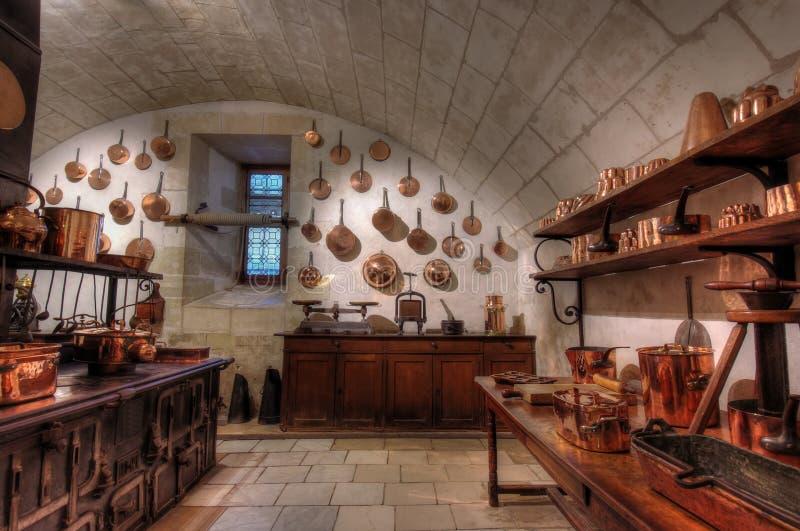 De keuken van het kasteel stock fotografie
