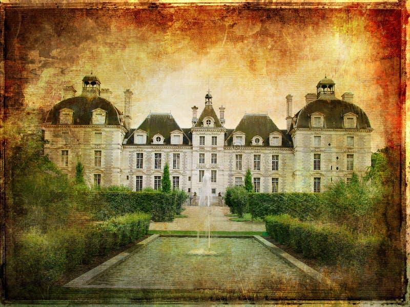 Het kasteel van Cheverny vector illustratie