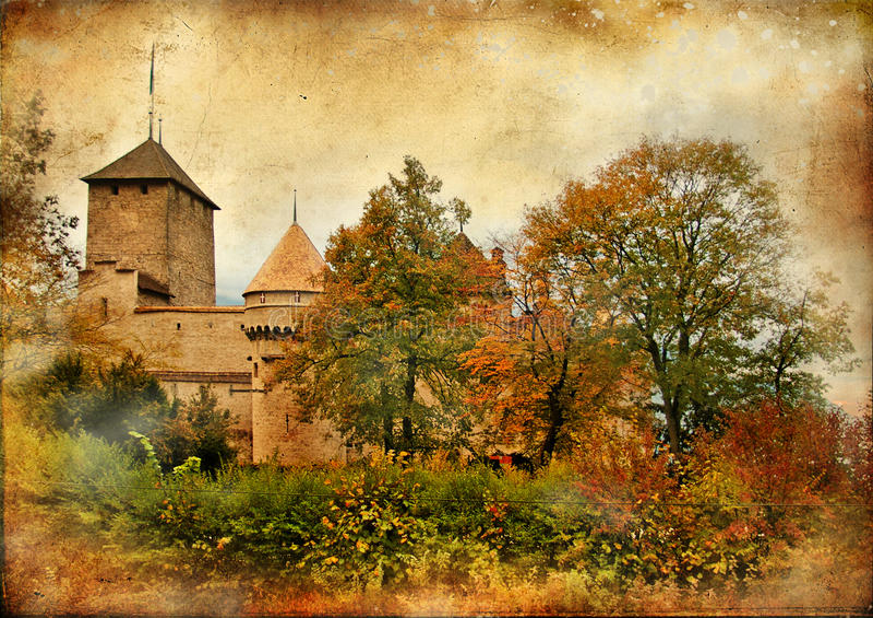 Het kasteel van Chillion royalty-vrije illustratie