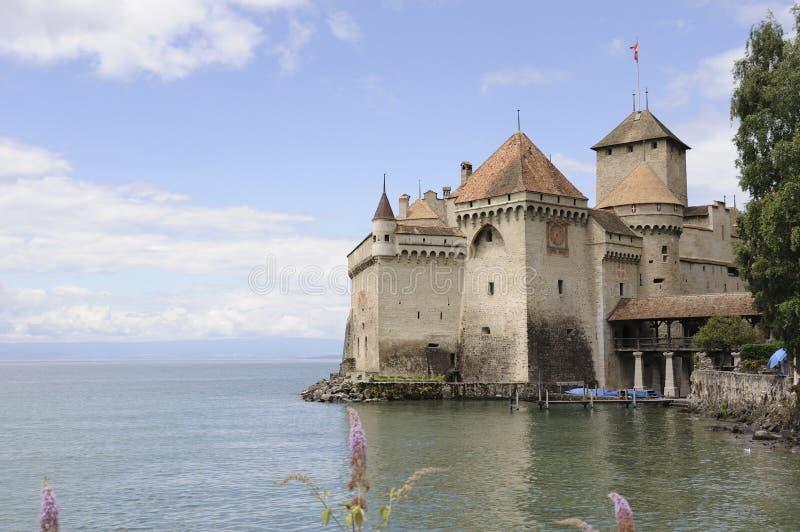 Het Kasteel van Chillon stock foto