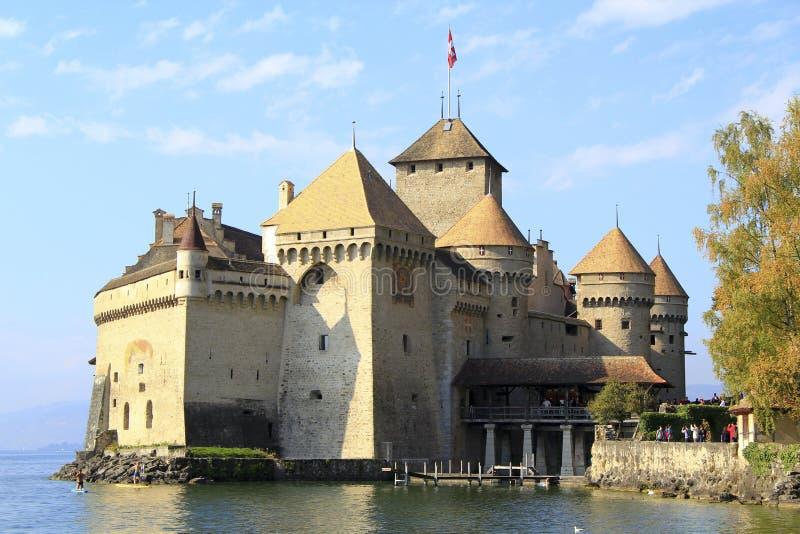 Het kasteel van Chillon, Zwitserland royalty-vrije stock foto's