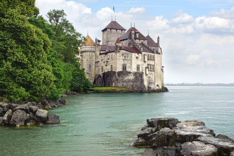 Het Kasteel van Chillon zwitserland royalty-vrije stock foto's