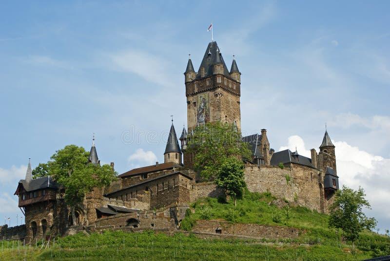 Het Kasteel van Cochem, de Rivier van Moezel, Duitsland, Europa royalty-vrije stock afbeelding