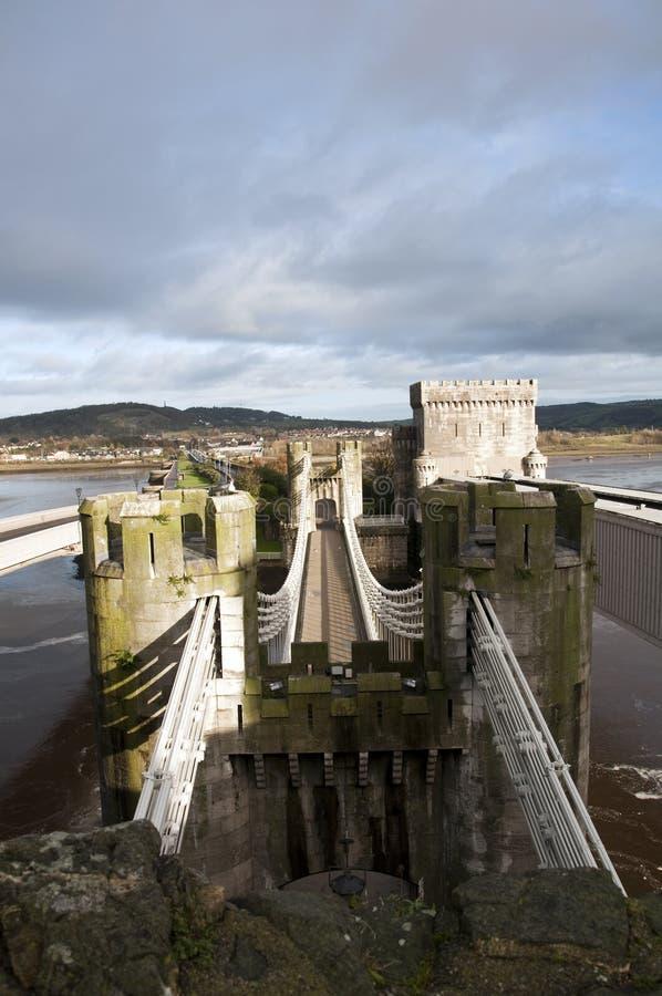 Het Kasteel van Conwy in Wales stock fotografie