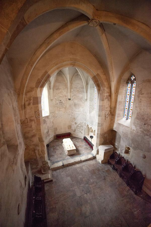 Het Kasteel van Corvinhuniazilor van Hunedoara, Roemenië royalty-vrije stock afbeeldingen