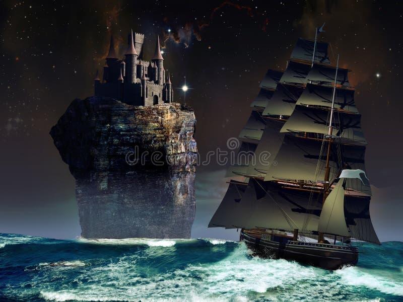 Het kasteel van de fantasie vector illustratie