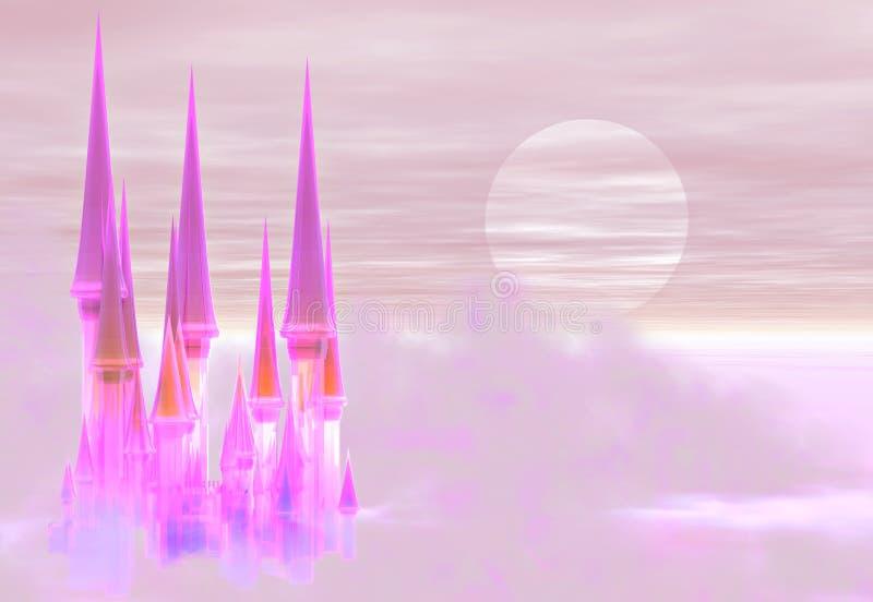 Het kasteel van de fee stock illustratie