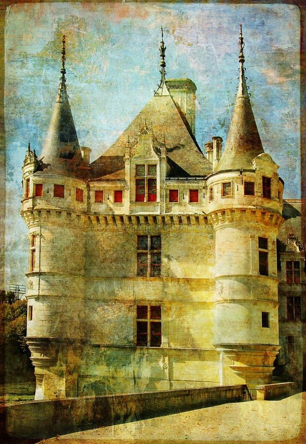 Het kasteel van de fee - Azey stock illustratie