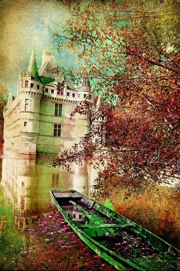 Het kasteel van de herfst vector illustratie