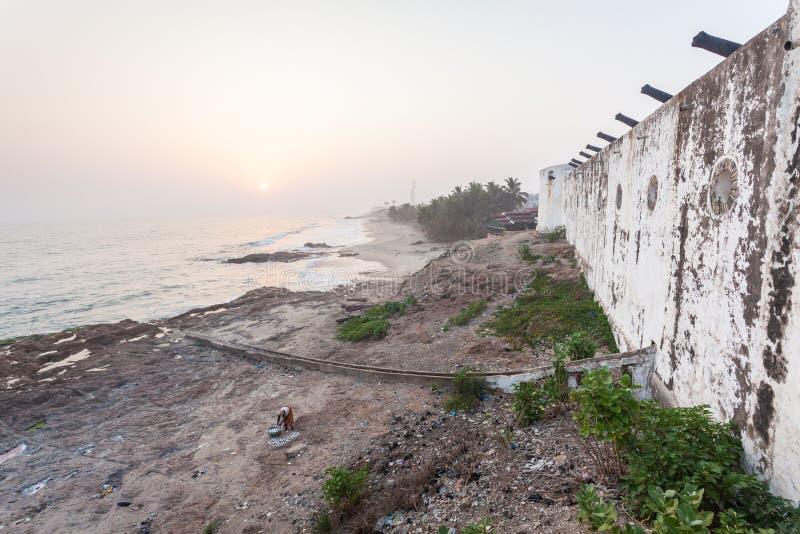 Het Kasteel van de kaapkust, Ghana, West-Afrika stock foto's