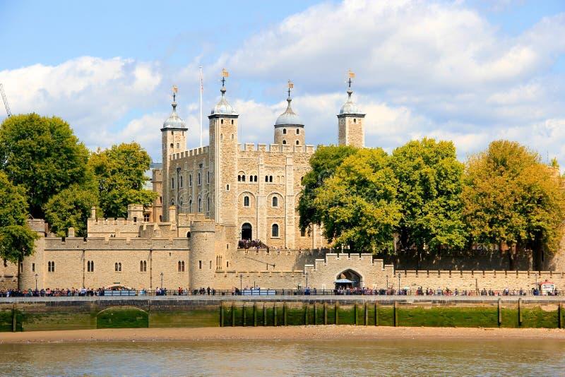 Het Kasteel van de toren in Londen stock afbeeldingen