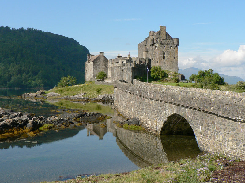 Het Kasteel van Donan van Eilean royalty-vrije stock fotografie