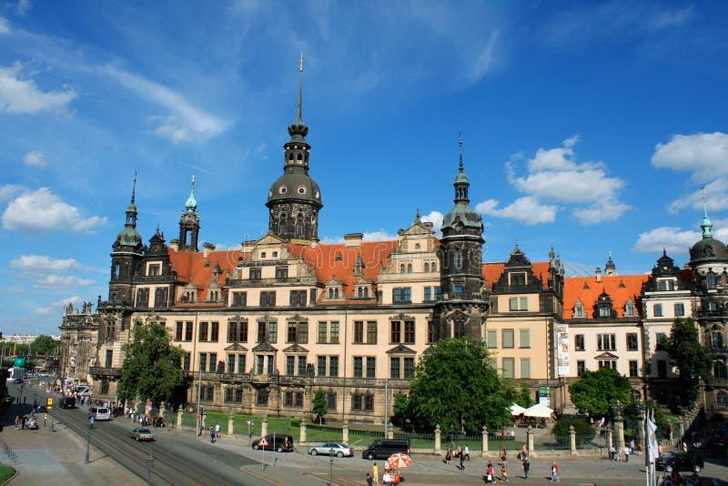 Het Kasteel van Dresden of Royal Palace Dresdner Residenzschloss of Dres stock foto's