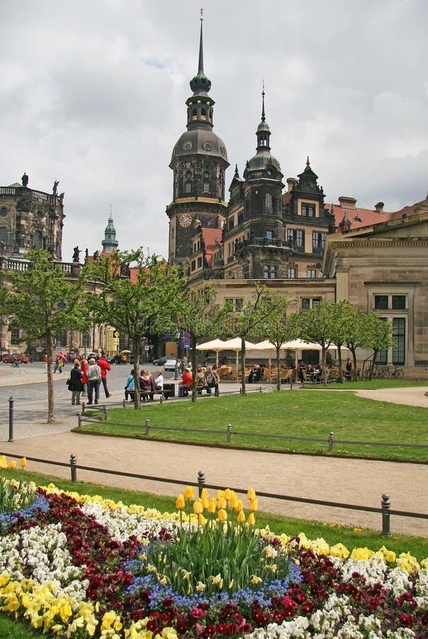 Het Kasteel van Dresden of Royal Palace Dresdner Residenzschloss of Dresdner Schloss royalty-vrije stock afbeeldingen