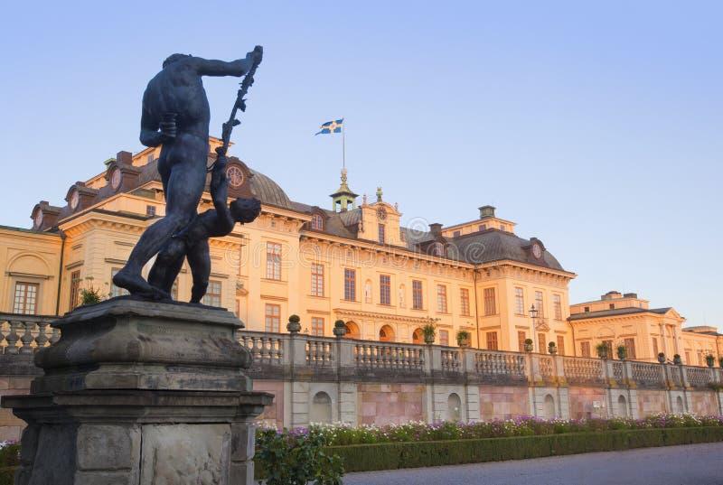Het kasteel van Drottningholm stock afbeeldingen