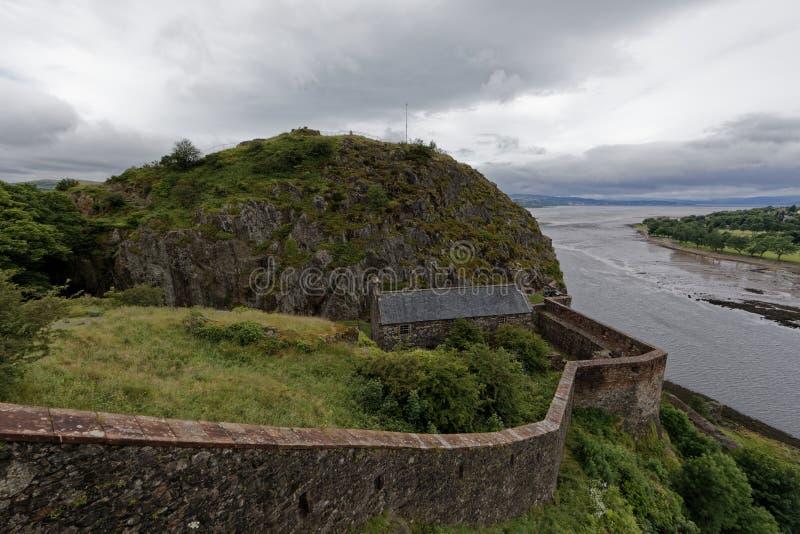 Het kasteel van Dumbarton, Schotland stock foto
