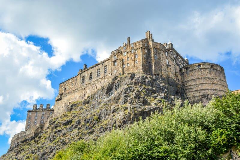 Het Kasteel van Edinburgh en Castle Rock, Edinburgh, Schotland stock afbeelding