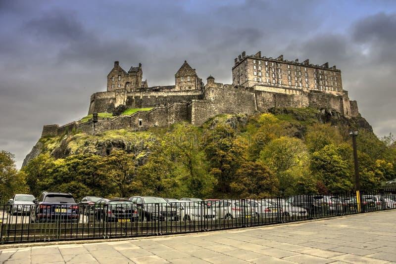 Het kasteel van Edinburgh Schotland, het Verenigd Koninkrijk royalty-vrije stock foto's