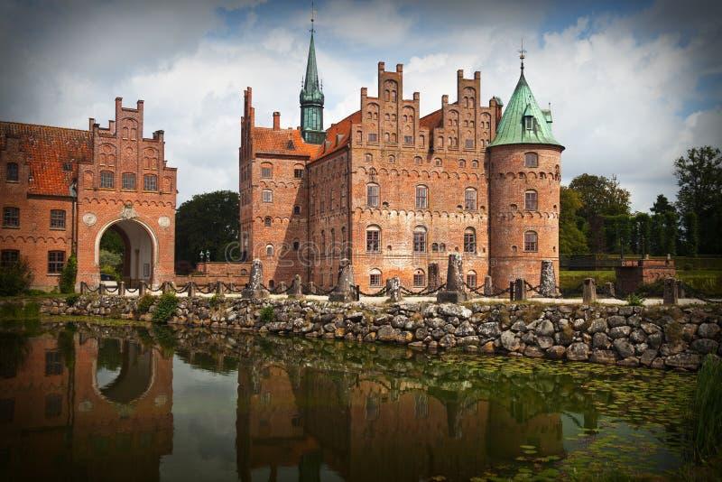 Het kasteel van Egeskov royalty-vrije stock foto's