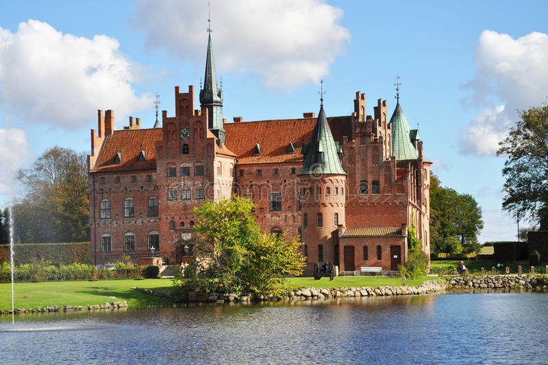 Het kasteel van Egeskov stock fotografie