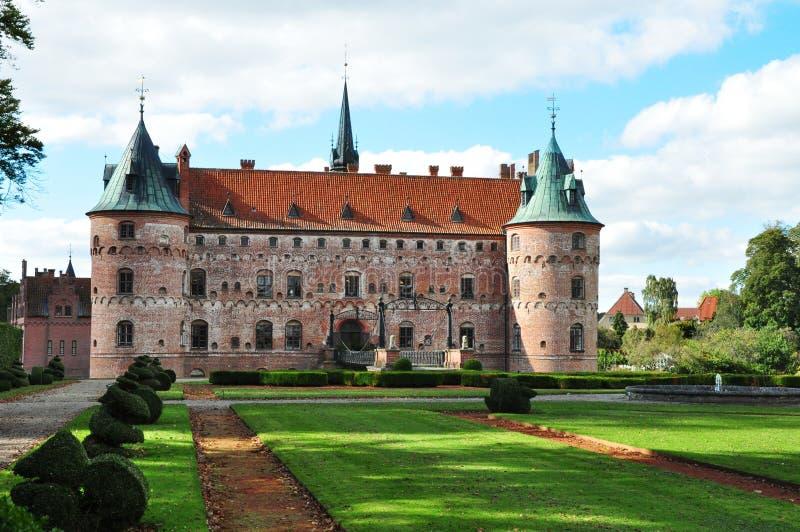 Het kasteel van Egeskov royalty-vrije stock afbeeldingen