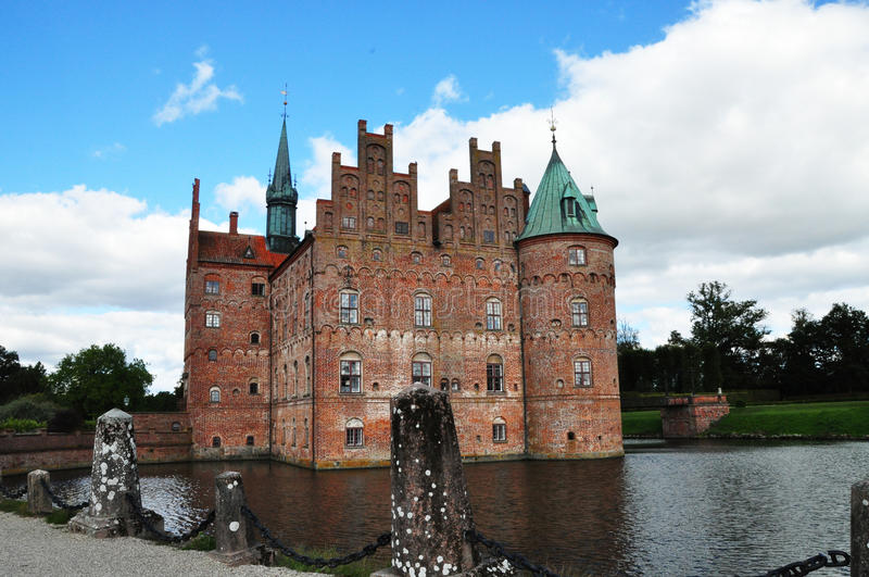 Het kasteel van Egeskov stock afbeelding