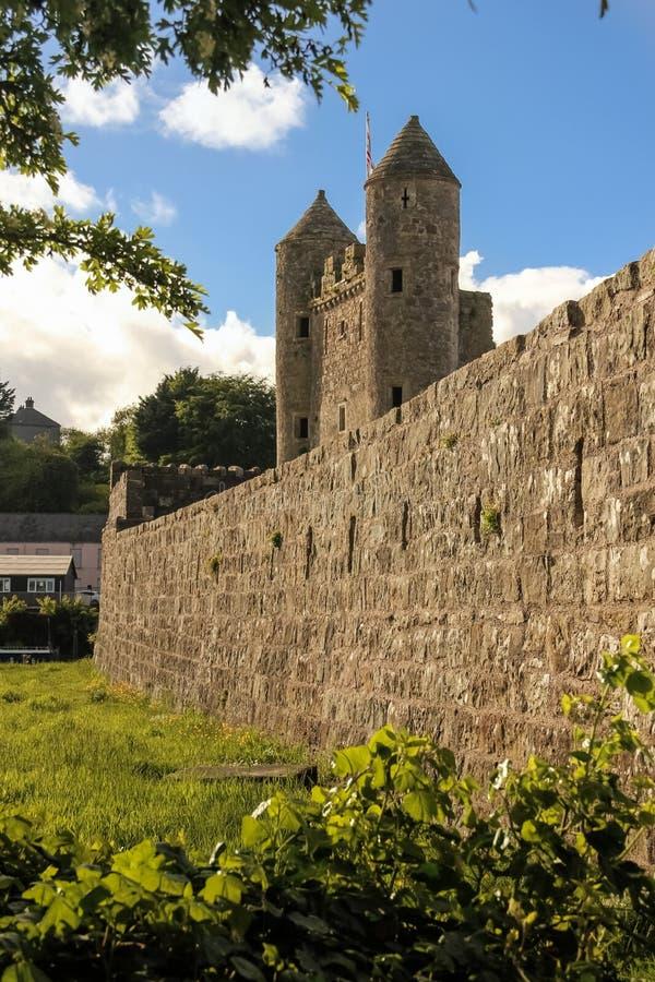 Het Kasteel van Enniskillen provincie Fermanagh Noord-Ierland stock foto's