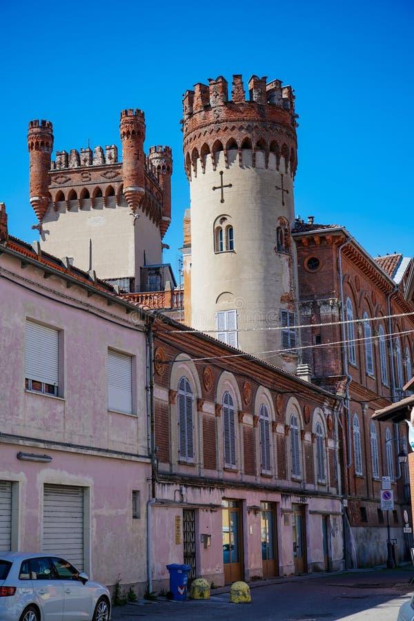 Het kasteel van Favria stock afbeeldingen