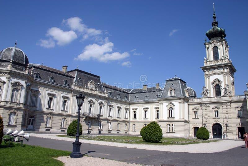 Het Kasteel van Festetics in Keszthely, Hongarije stock afbeelding