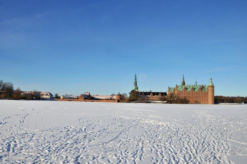 Het Kasteel van Frederiksborg, Denemarken royalty-vrije stock afbeelding
