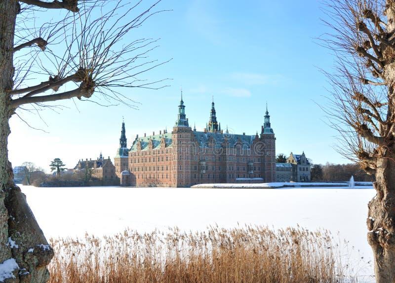 Het Kasteel van Frederiksborg, Denemarken stock fotografie