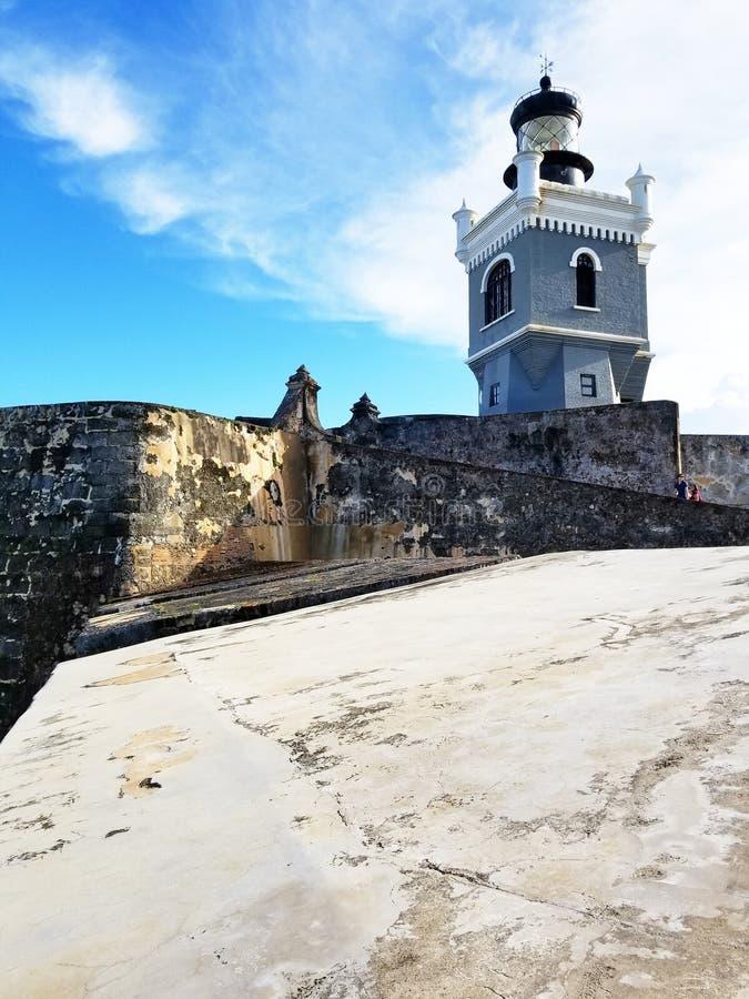 Het kasteel van Gr Morro bij oud San Juan, Puerto Rico royalty-vrije stock foto
