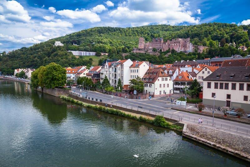 Het Kasteel van Heidelberg (het Duits: Heidelberger Schloss) royalty-vrije stock fotografie