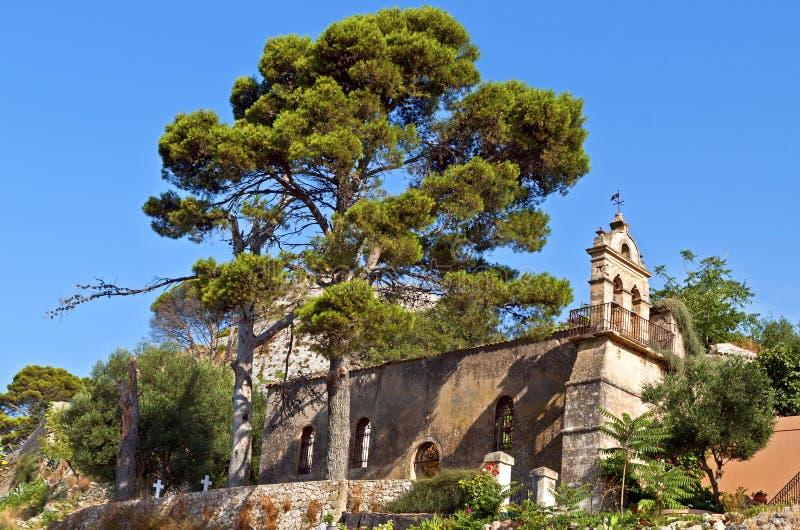 Het kasteel van heilige George in Griekenland stock foto