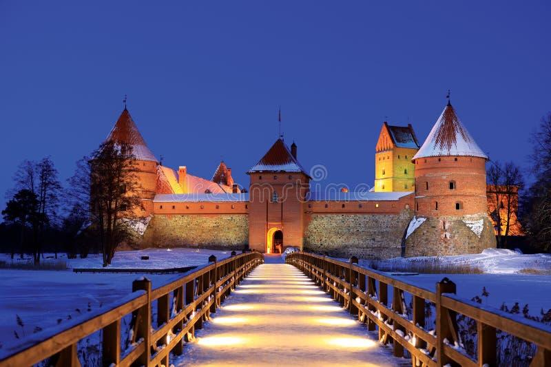 Het Kasteel van het eiland in Trakai royalty-vrije stock afbeeldingen