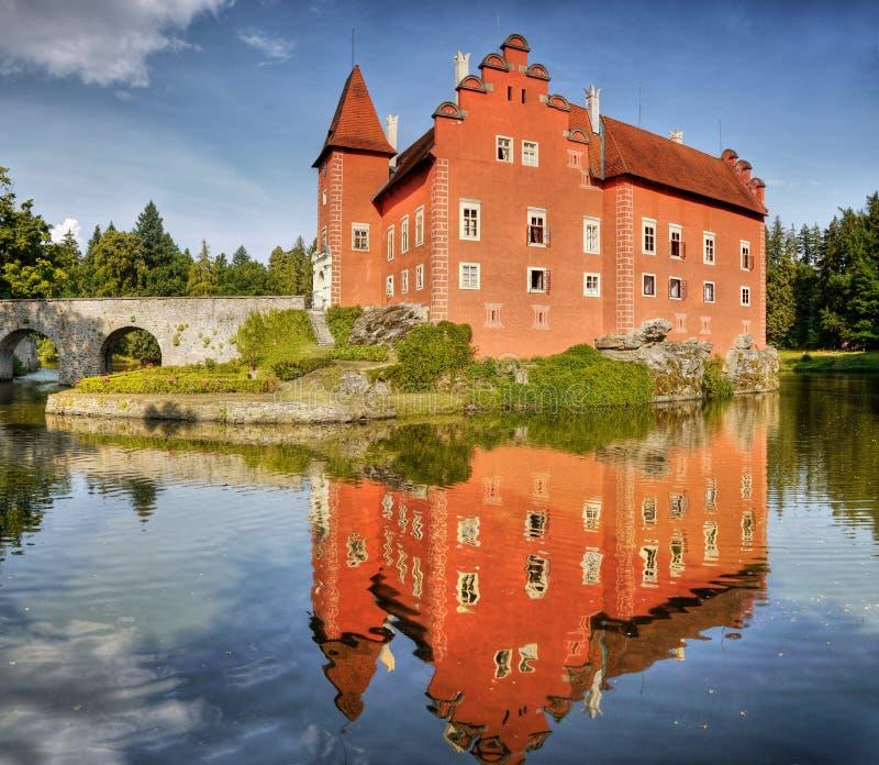 Het Kasteel van het Fairytalewater stock afbeeldingen