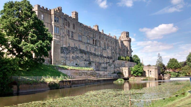Het kasteel van het Warwickkasteel royalty-vrije stock afbeelding