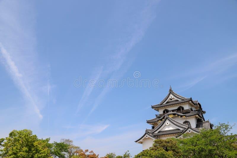 Het kasteel van het Hikonekasteel in de zomer stock foto's