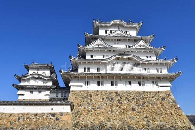 Het Kasteel van Himeji, het Grootste en Beroemdste Kasteel van Japan royalty-vrije stock afbeelding