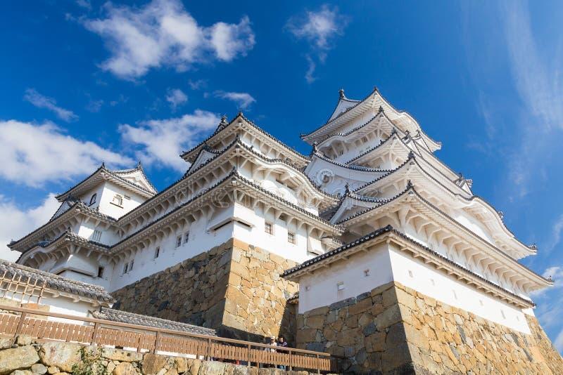 Het Kasteel van Himeji in Himeji met blauwe hemel royalty-vrije stock foto's
