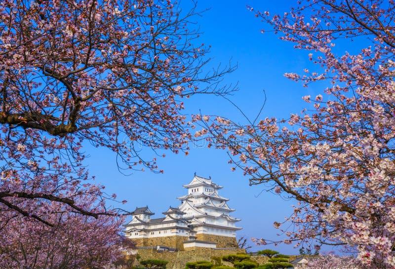 Het Kasteel van Himeji, Hyogo, Japan stock foto