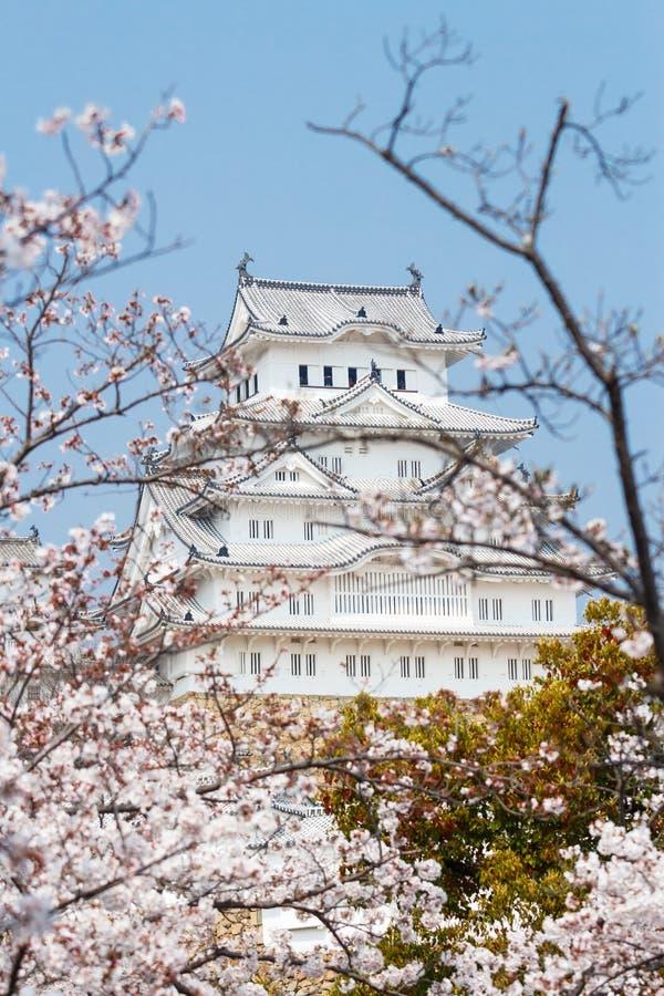 Het Kasteel van Himeji in Japan stock foto's
