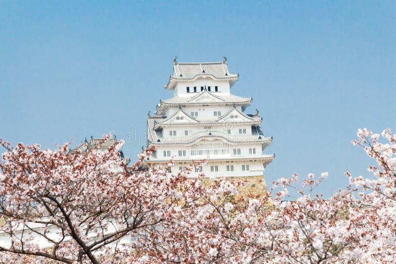 Het Kasteel van Himeji in Japan stock afbeelding
