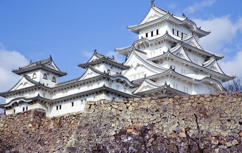 Het kasteel van Himeji of Wit Aigrettekasteel royalty-vrije stock afbeelding