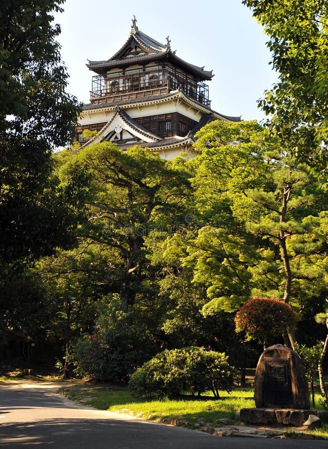 Het kasteel van Hiroshima stock afbeeldingen
