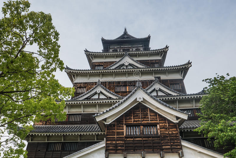 Het Kasteel van Hiroshima stock afbeelding