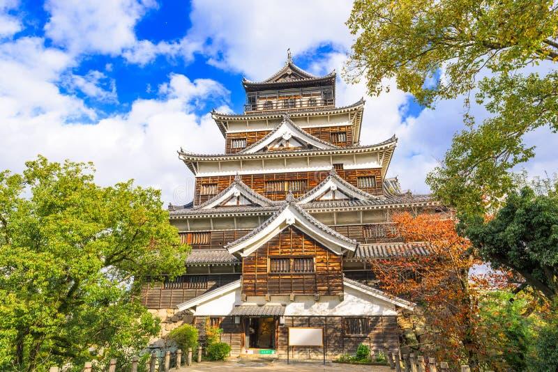 Het Kasteel van Hiroshima Japan stock fotografie