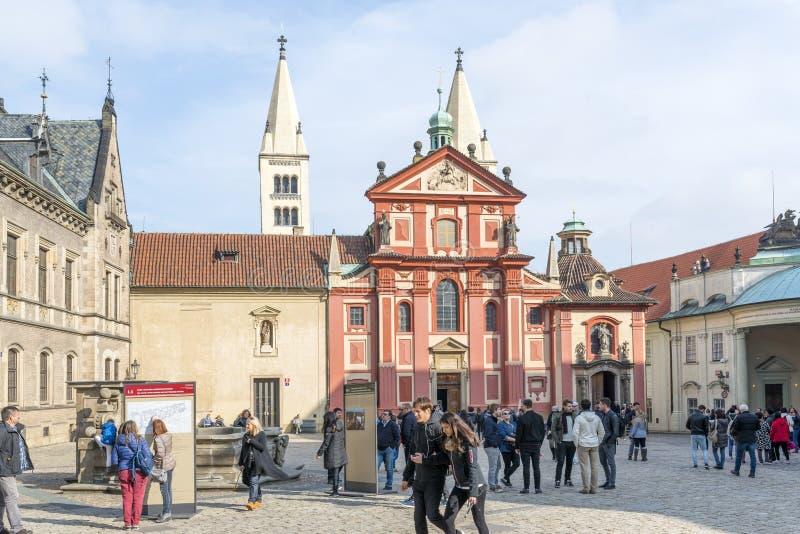 Het Kasteel van Hradcany in Praag royalty-vrije stock foto
