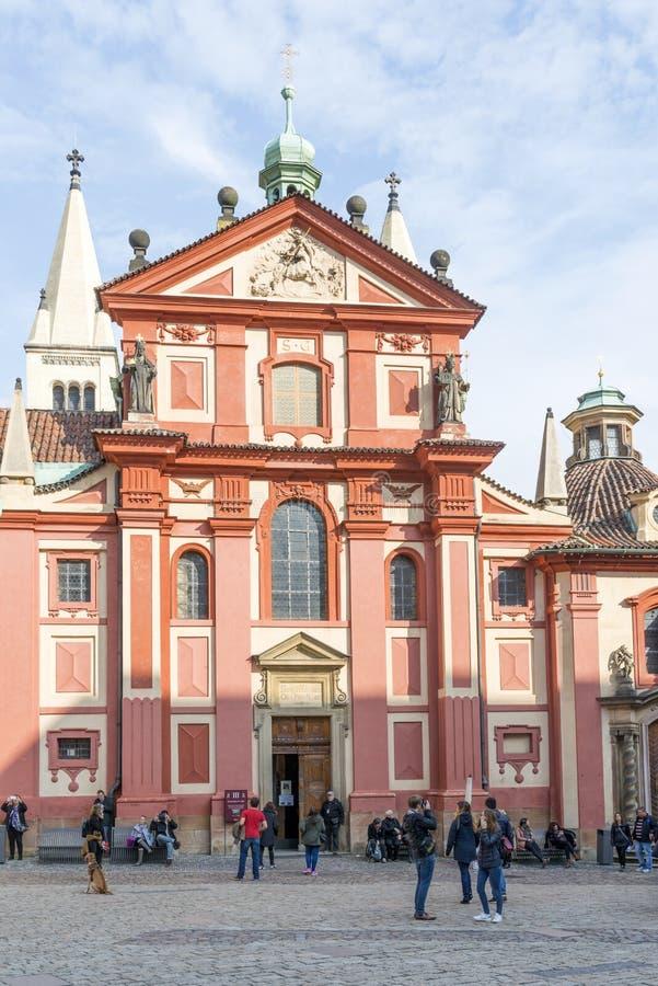 Het Kasteel van Hradcany in Praag royalty-vrije stock afbeelding