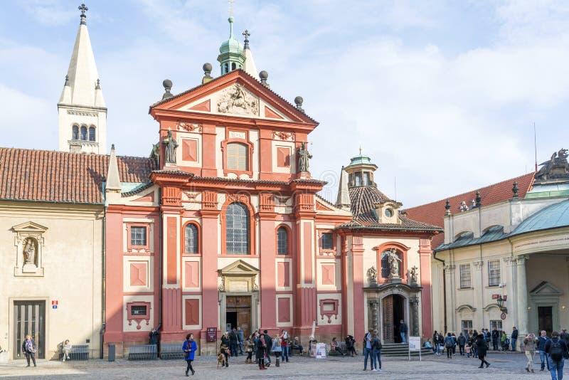 Het Kasteel van Hradcany in Praag royalty-vrije stock foto's